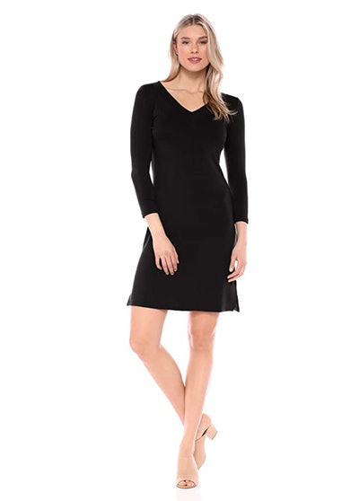 Daily Ritual Terry V-Neck Dress