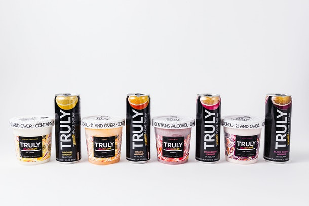 Truly Hard Seltzer and Tipsy Scoop's seltzer-infused ice cream comes in four different, fruity flavors.