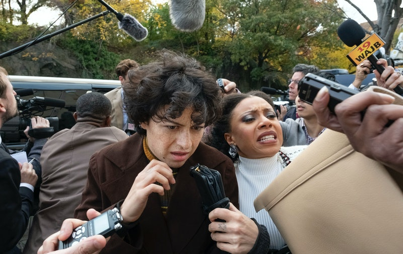 Alia Shawkat as Dory and Shalita Grant as her lawyer Cassidy in 'Search Party' Season 3