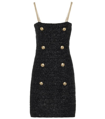Balmain Metallic Tweed Dress