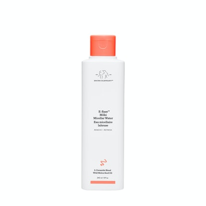 Product packaging of Drunk Elephant's new E-Rase Milki Micellar Water.