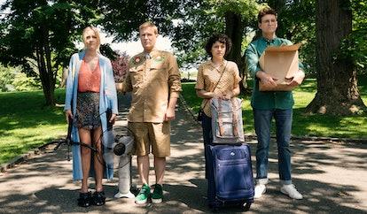 Portia, Elliot, Dory, and Drew in 'Search Party' Season 2