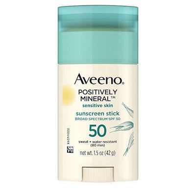 Aveeno Positively Mineral Sensitive Skin Daily Sunscreen Stick (SPF 50)