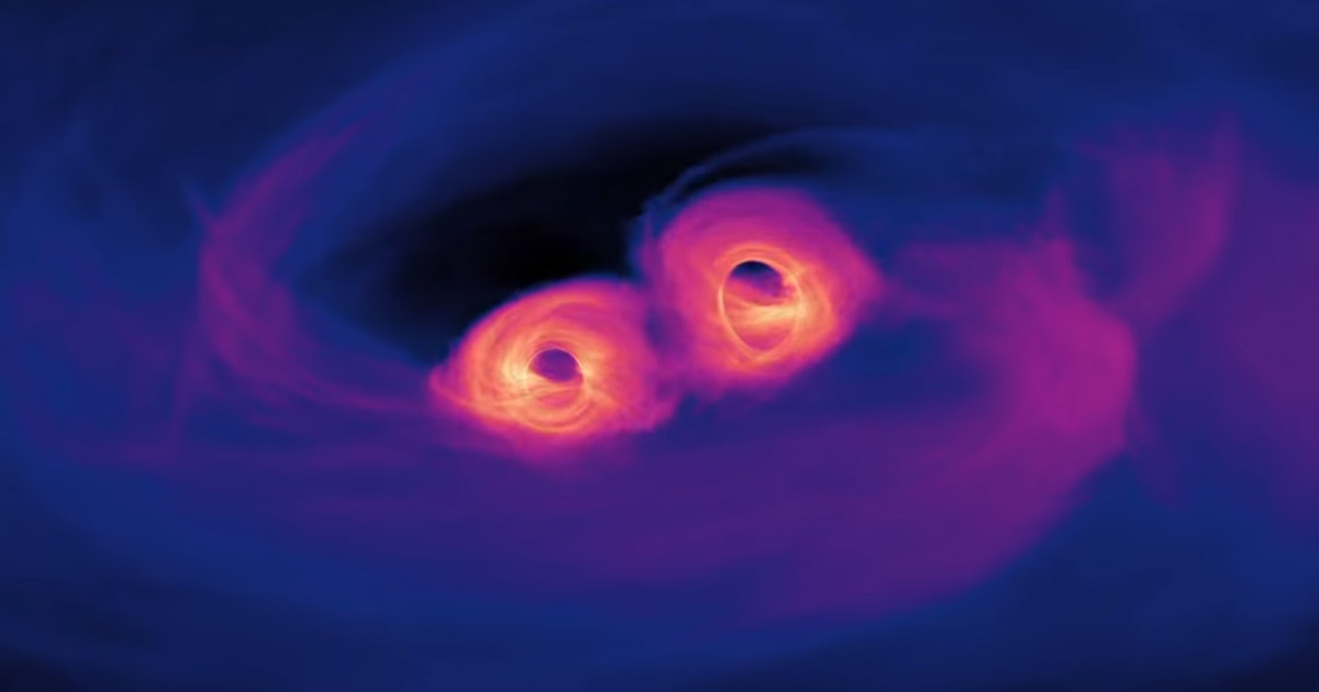 Astronomers see the light from a black hole collision for the first time