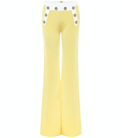High-Rise Knit Flared Pants
