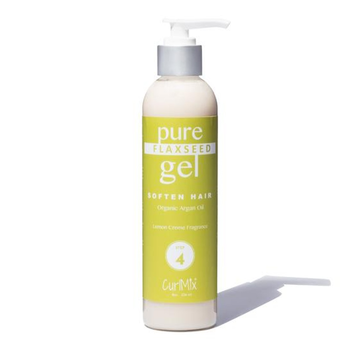 Pure Flaxseed Gel with Organic Argan Oil for Softening & Lemon Creme Fragrance