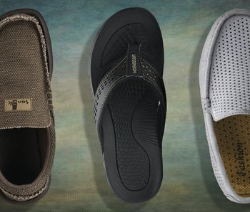Three breathable shoes for men