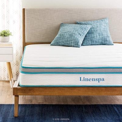 Linenspa 8-Inch Queen Memory Foam Hybrid Mattress