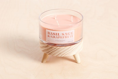 Basil Sage and Grapefruit Coconut Wax Blend Candle