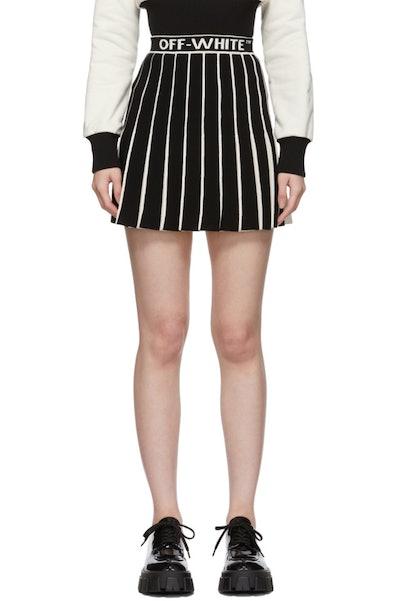White & Black Swans Miniskirt