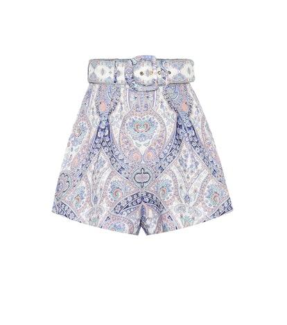 Paisley Linen Shorts