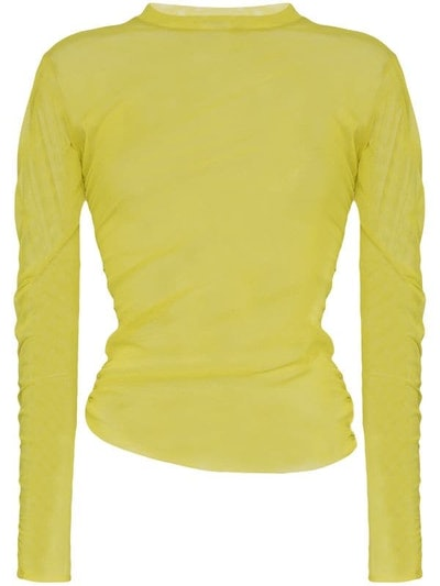 Ruched Mesh Top