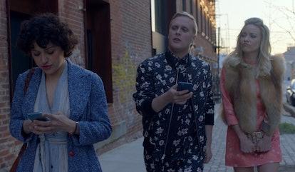 Dory, Elliot, and Portia in 'Search Party' Season 1