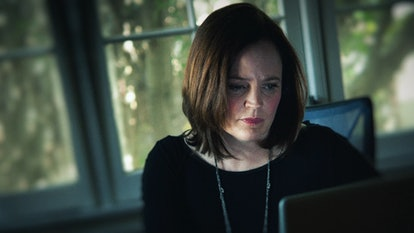 Michelle McNamara worked for years on her book I'll Be Gone In the Dark, via HBO press site.