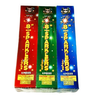 12 Packages of 6 Sparklers