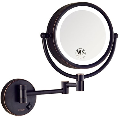 GURUN LED Lighted Wall Mount Makeup Mirror