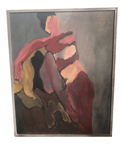 Vintage Abstract Figurative Painting