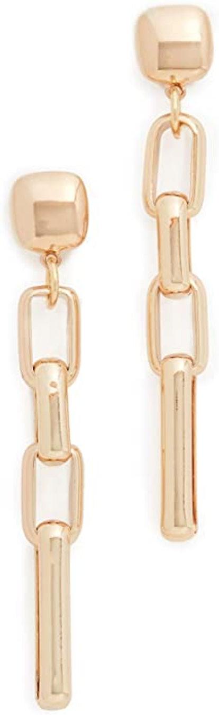 Kenneth Jay Lane Gold Link Earrings