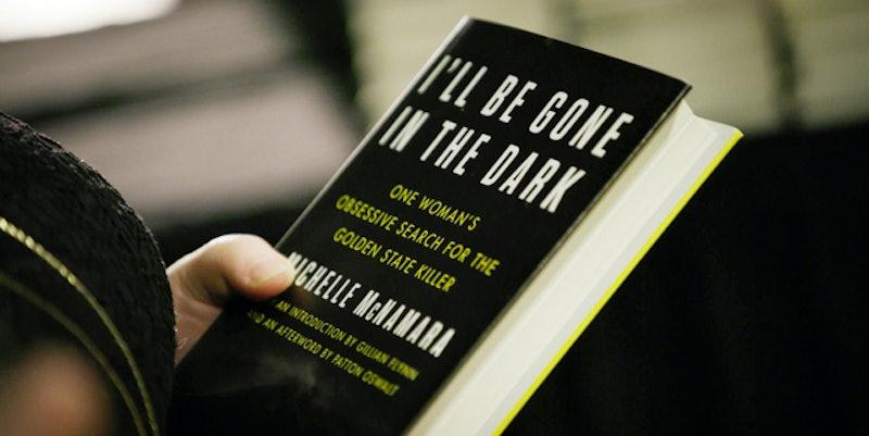 A close-up of Michelle McNamara's book 'I'll Be Gone in the Dark' via HBO's press site.