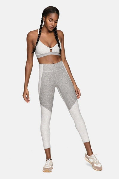 Outdoor Voices Steeplechase Bra and Two-Tone Leggings