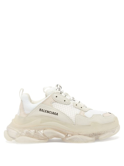 Triple S Leather and Mesh Trainers