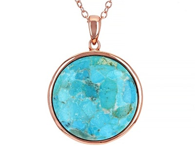 Copper Turquoise Pendant With Chain