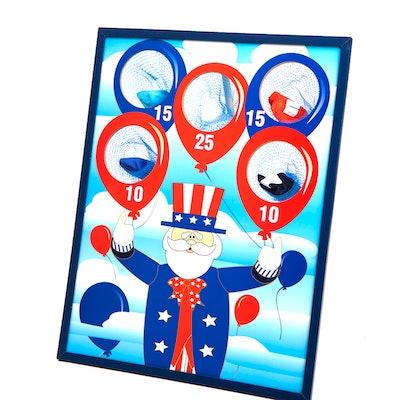 Patriotic Bean Bag Toss Game (7Pc) - Party Favors - 7 Pieces