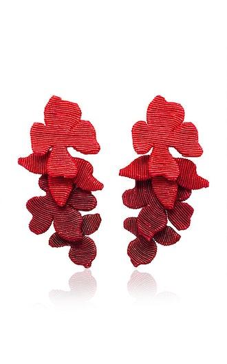 Blossom Silk Cord Clip Earrings