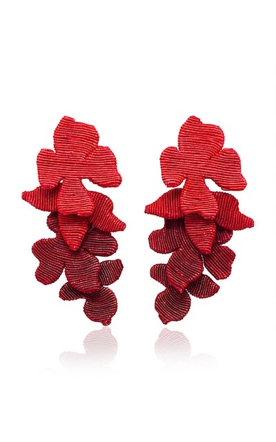 Blossom Silk Cord Clip Earrings