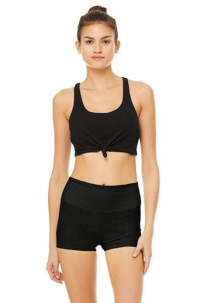 Alo Yoga Knot Bra and Aura Short