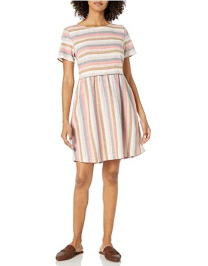 Goodthreads Washed Linen Flare Dress