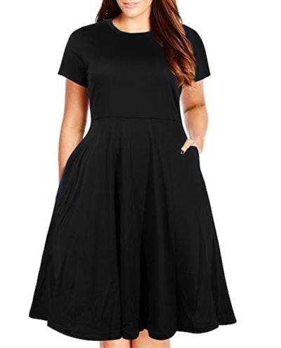 Nemidor Summer Fit and Flare Dress