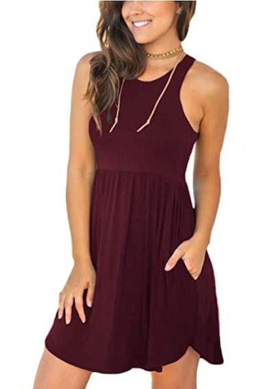 Unbranded* Loose Plain Short Dress