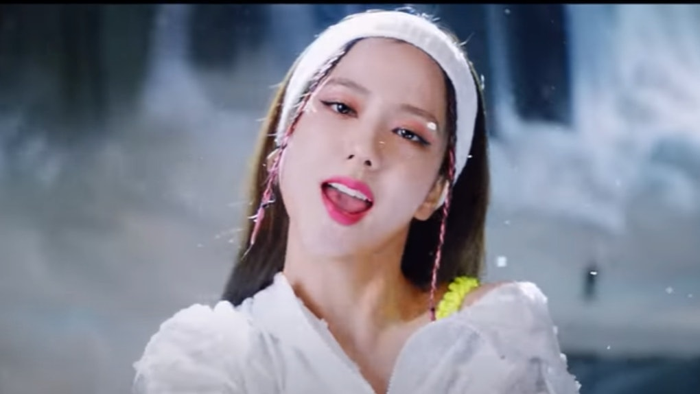 """A screenshot from BLACKPINK's """"How You Like That"""" video."""