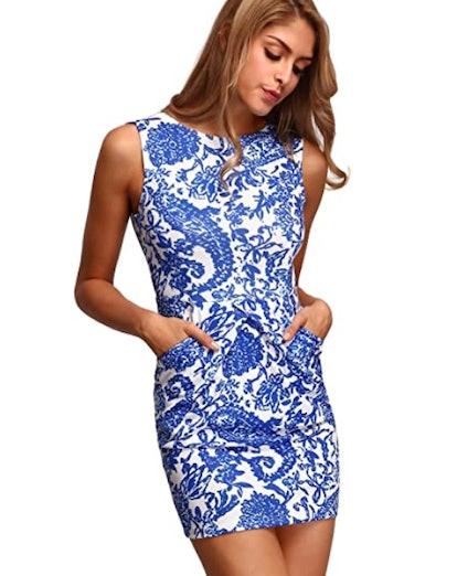 Floerns Sleeveless Bodycon Dress