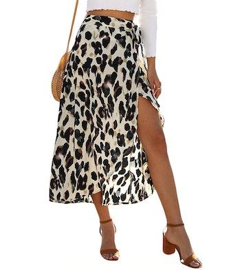 Newchoice Women's Boho Leopard Skirt
