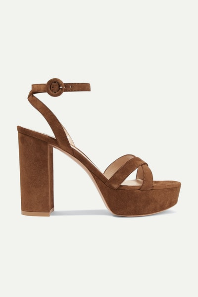 Poppy 100 Suede Platform Sandals