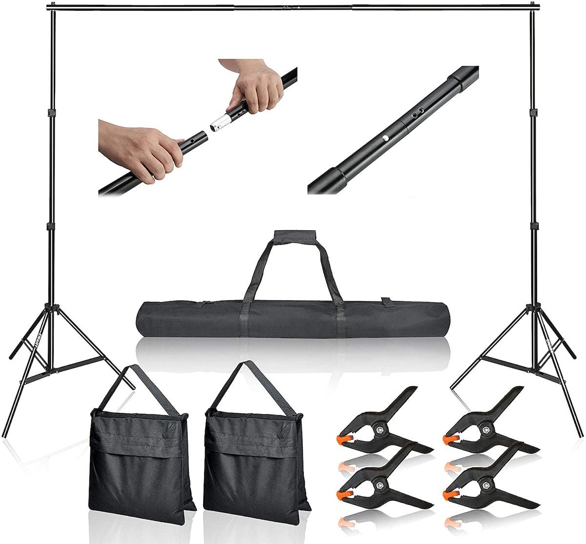 EMART Photo Video Studio 10 ft. Adjustable Background Stand