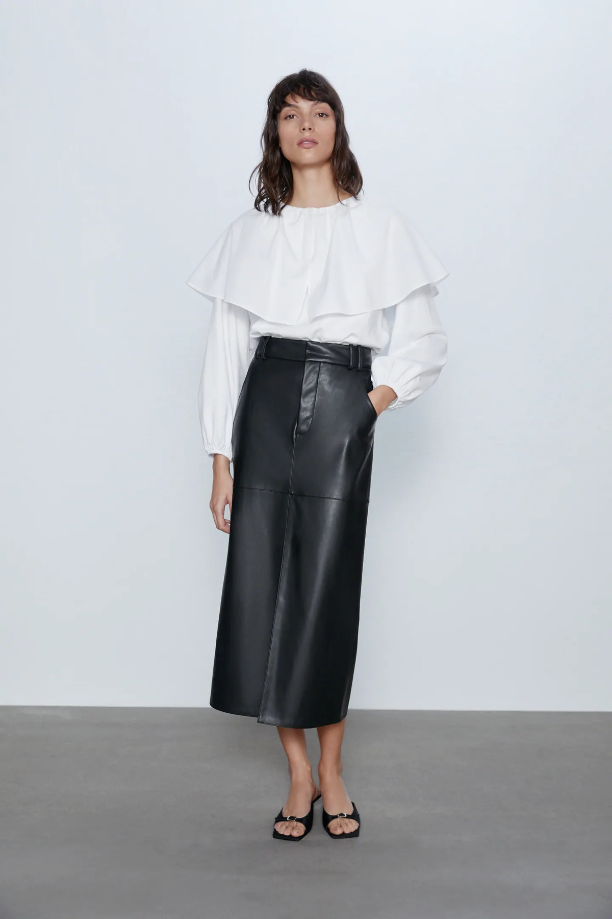 Top with Poplin Detail