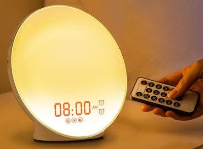 HOKEKI Alarm Clock with 7 Colored Sunrise