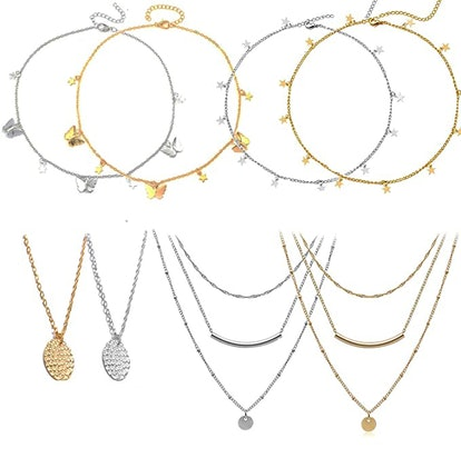 Valleycomfy Choker Necklaces (Set of 12)