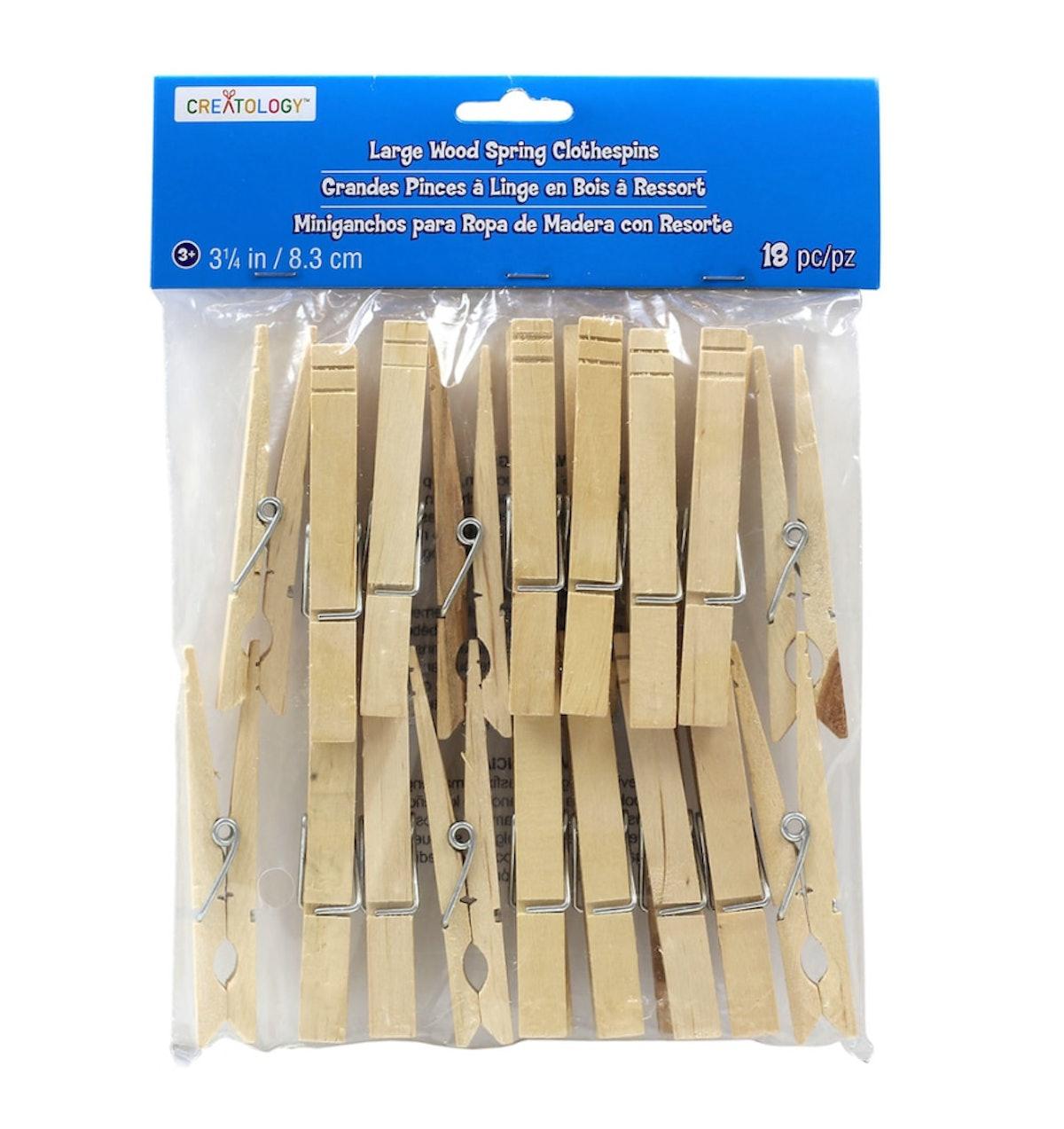 Creatology™ Large Wood Clothespins