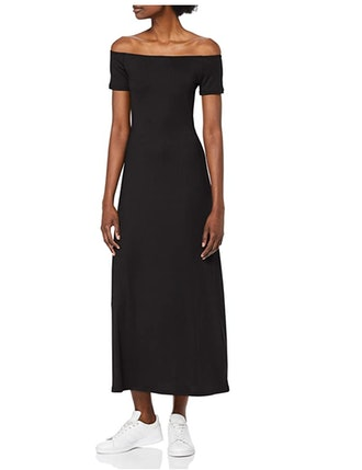 find. Rib Jersey Form Fitting Off-Shoulder Midi Dress