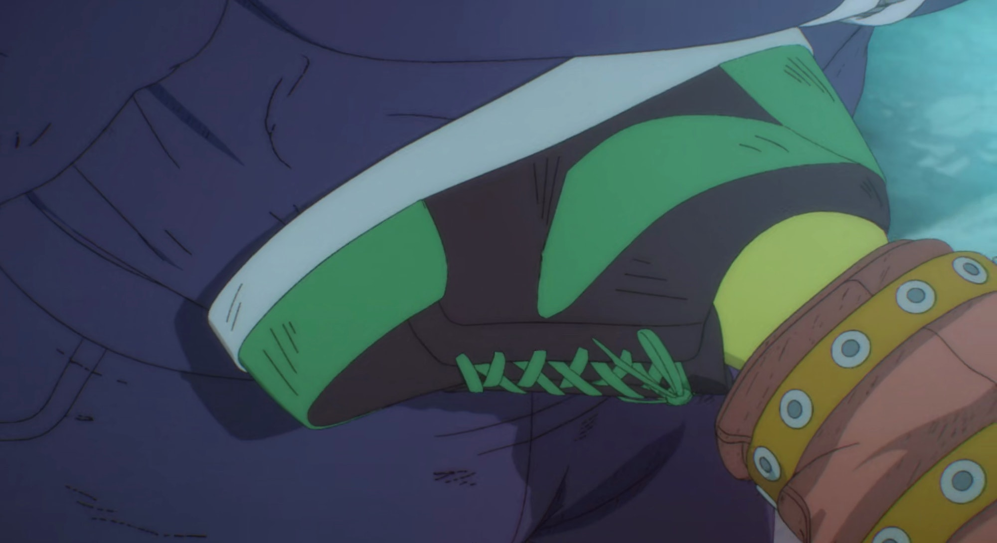 Nike-inspired sneakers in the Netflix anime series 'Dorohedoro'.