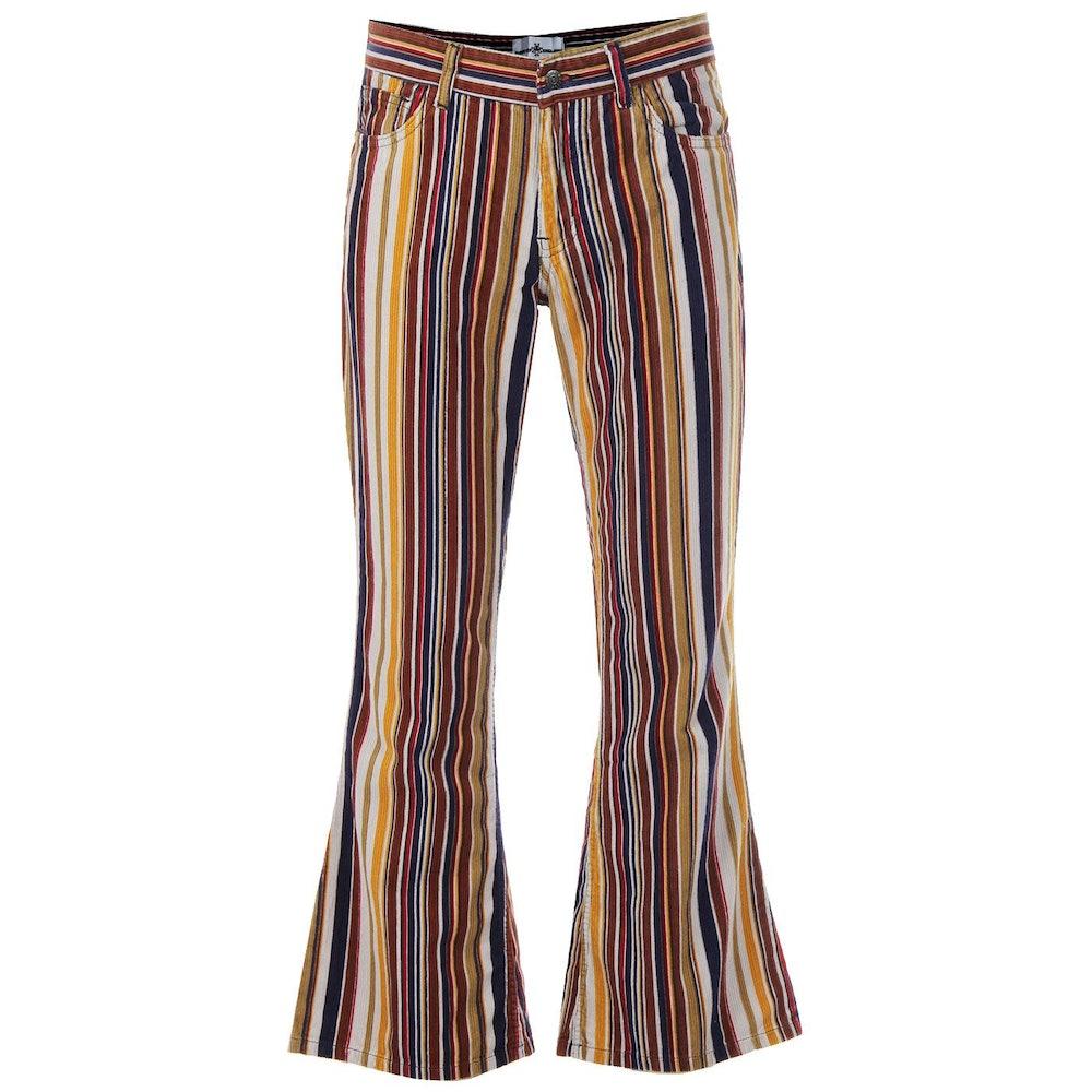 Killer Stripe Retro 1970s Stripe Cord Flares