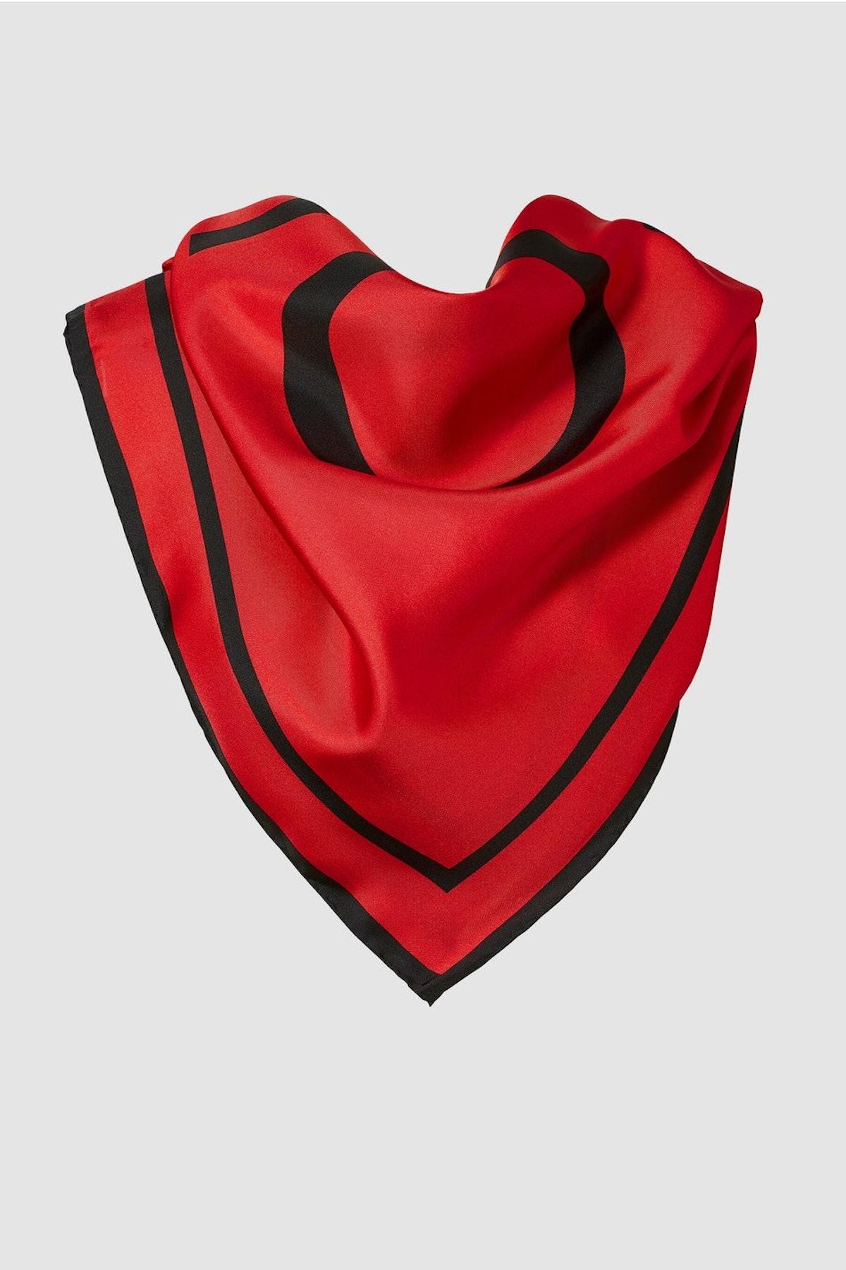 Rowe Silk Scarf Carmine Red
