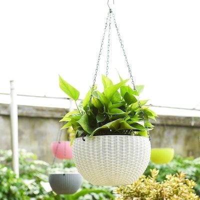 "Foraineam 10.2"" Dual-pots Design Hanging Basket Planter"