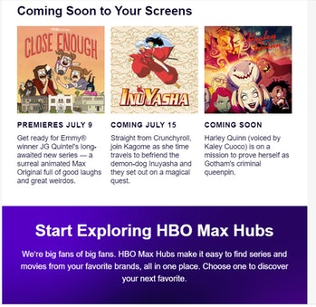 HBO Max Harley Quinn