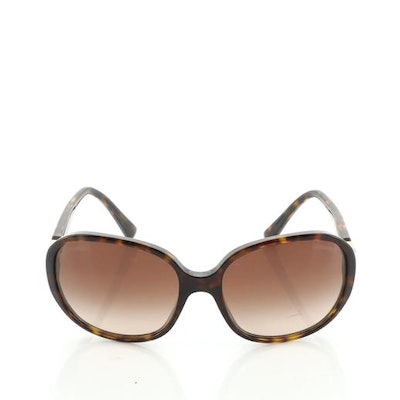 Chanel Vintage CC Oversized Sunglasses Tortoise Acetate