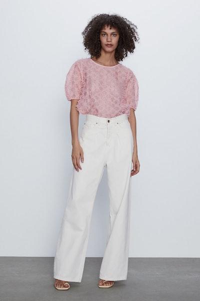 Zara Textured Top